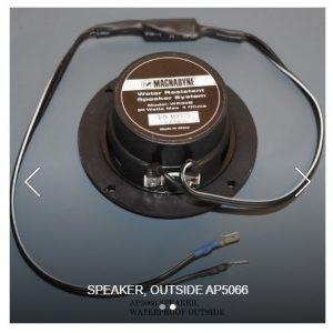 """Speaker, Outdoor Water Resistant 3"""" Black"""